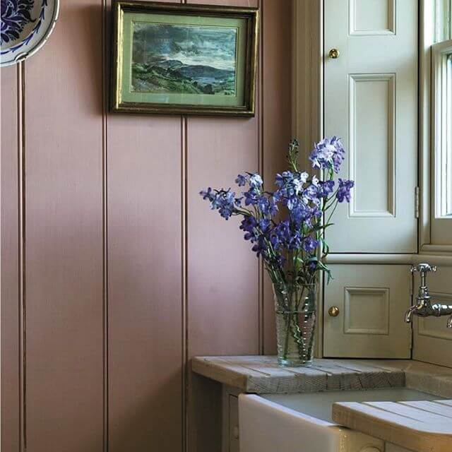 Panelling in Dusky Rose