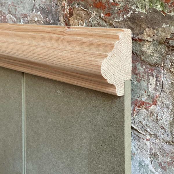 Dado rail on wall panelling